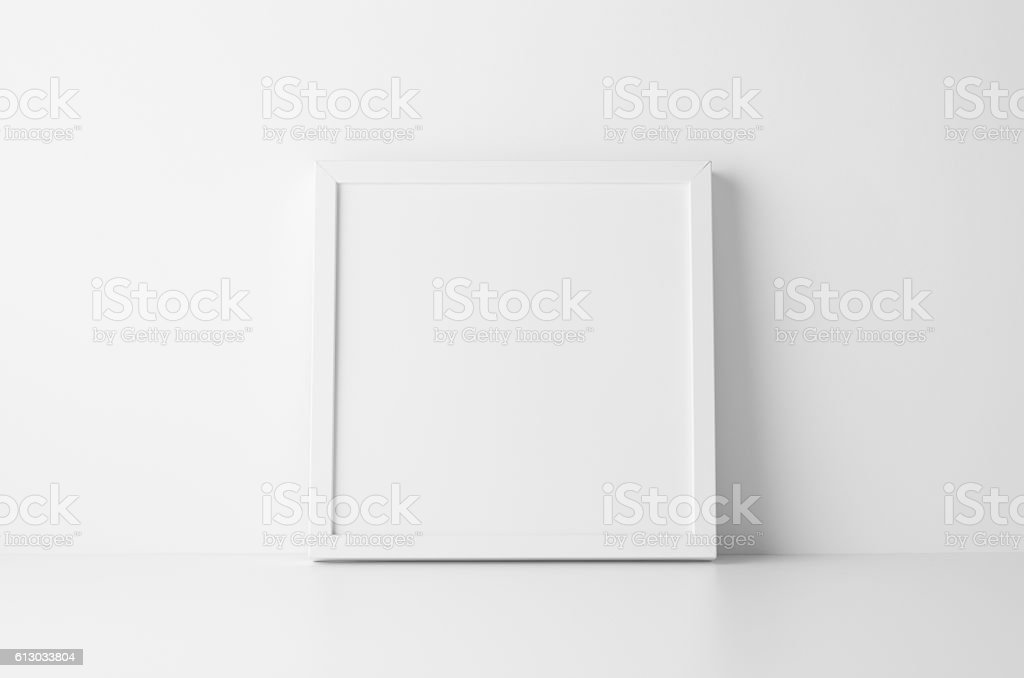 Square Frame Mock-Up stock photo
