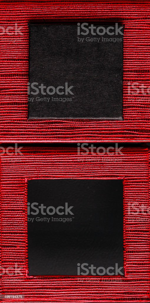 square framed text box red black background royalty-free stock photo