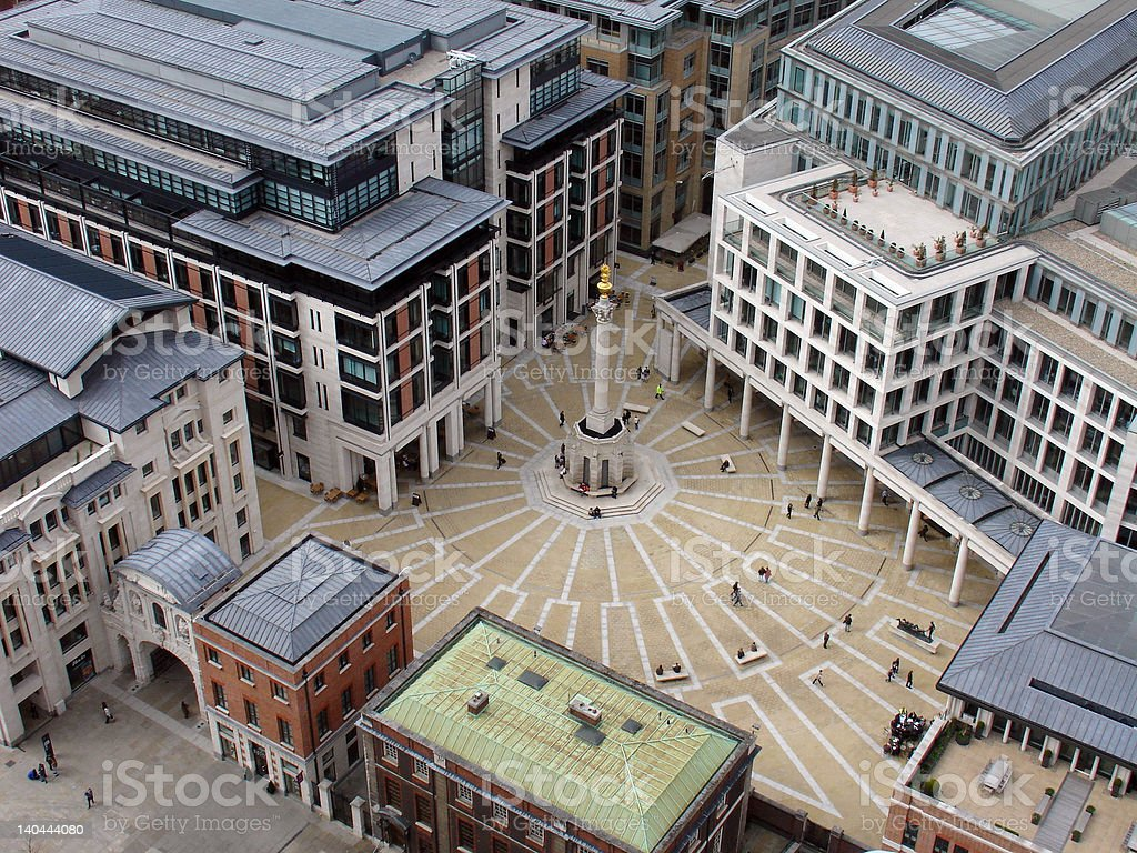 Square from above royalty-free stock photo