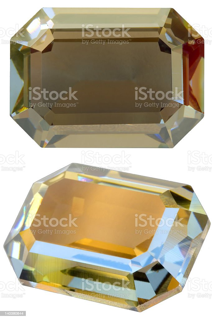 Square gem royalty-free stock photo