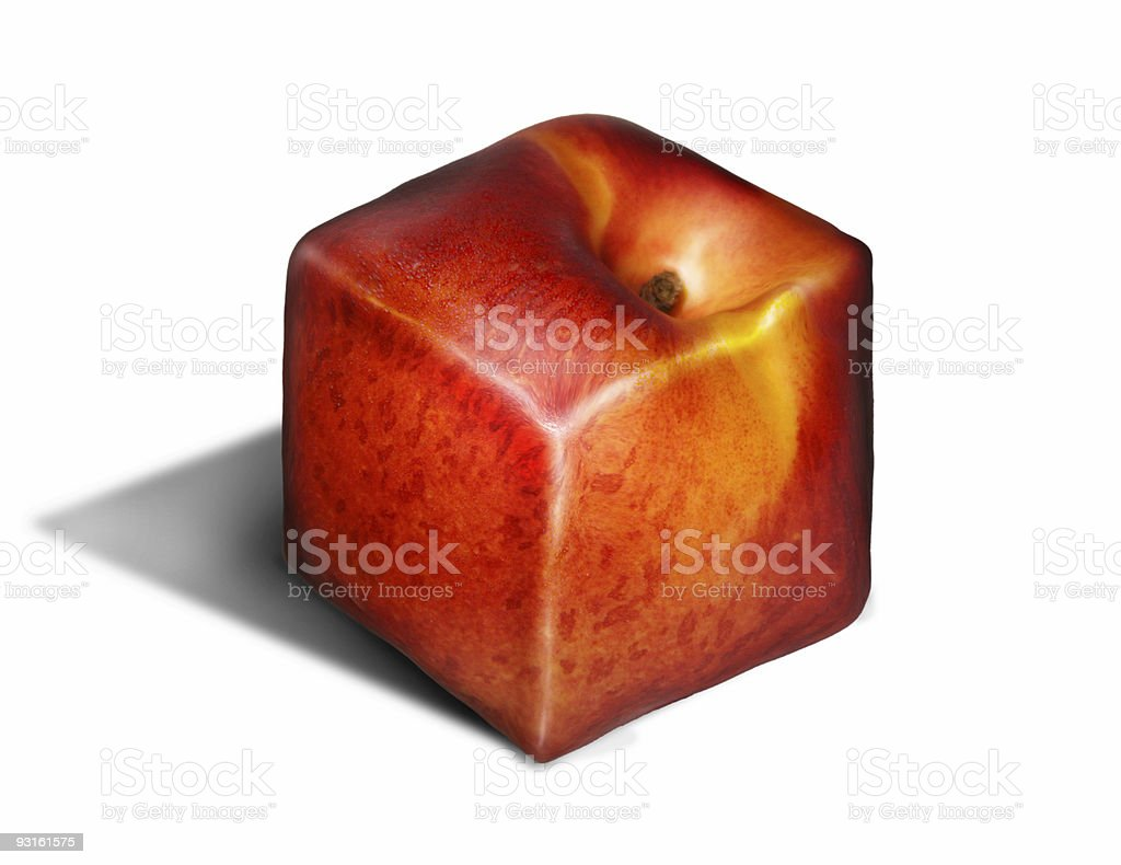 Square genetic fruit royalty-free stock photo
