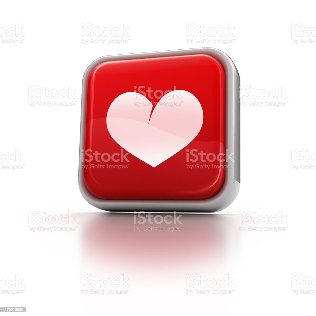square heart icon royalty-free stock photo