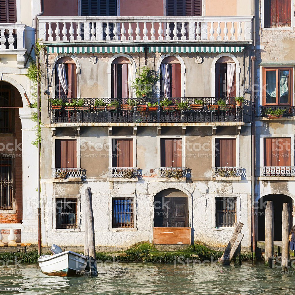 Square house on Canal Grande in Venice Italy royalty-free stock photo