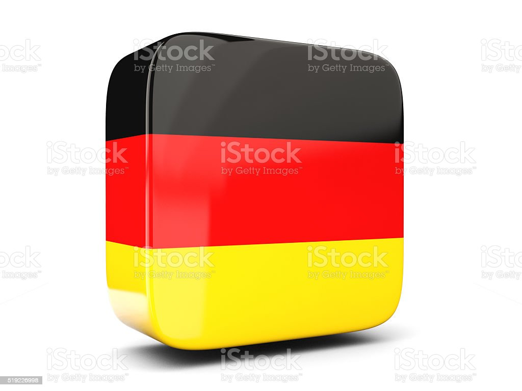Square icon with flag of germany. 3D illustration stock photo