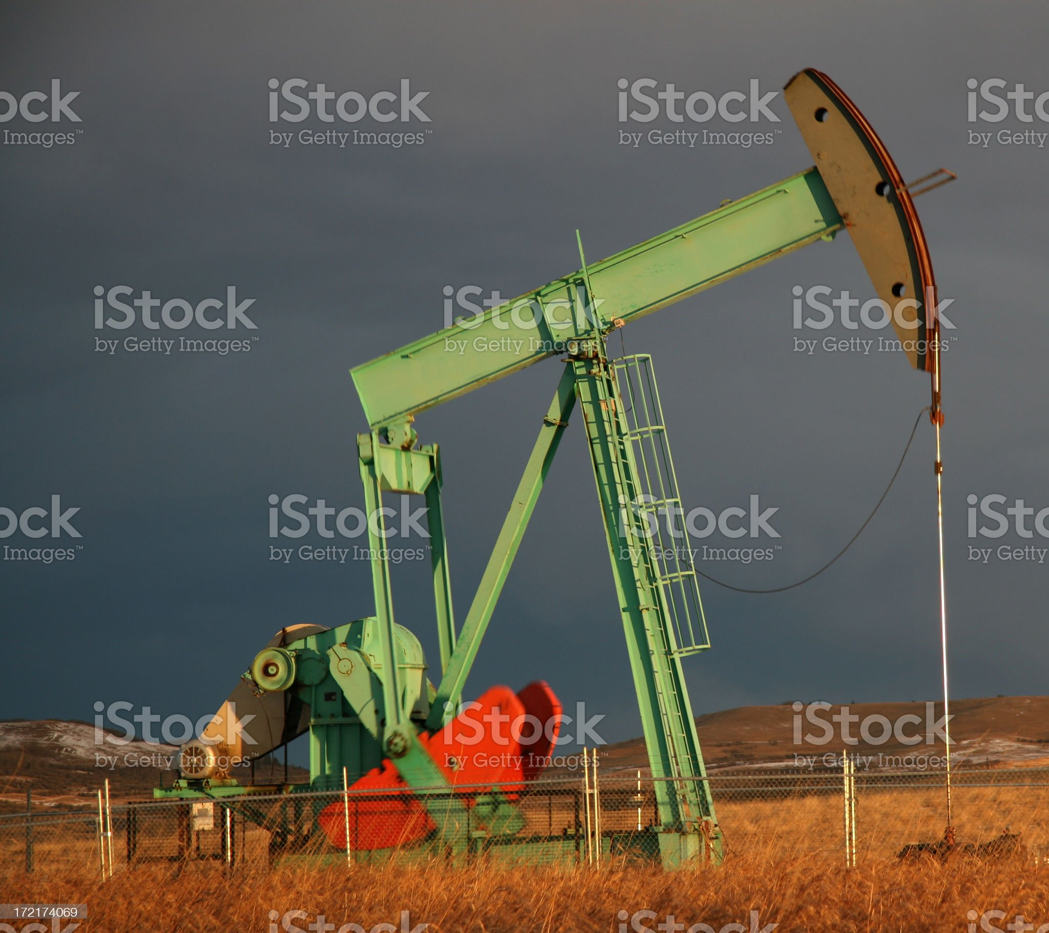 Square Image of a Pumpjack royalty-free stock photo