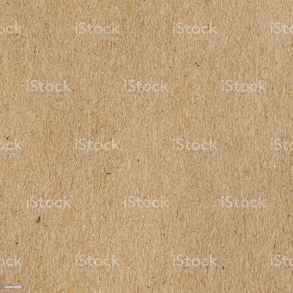 Square image of mid-brown paper with textured surface stock photo