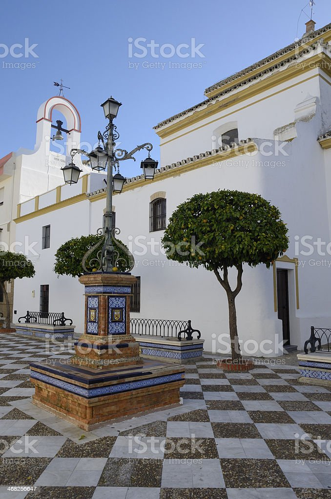 Square in a Seville village royalty-free stock photo