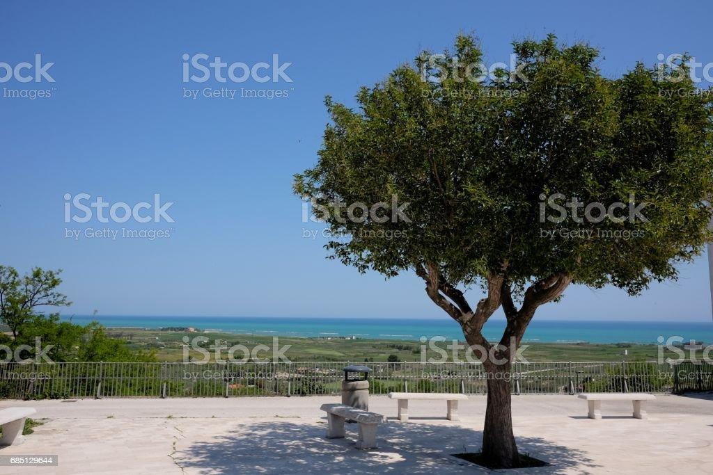 square in campomarino stock photo