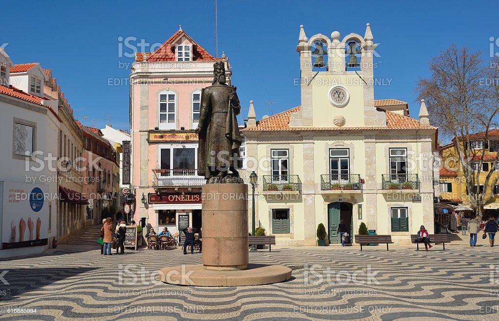Square in Cascais Portugal stock photo
