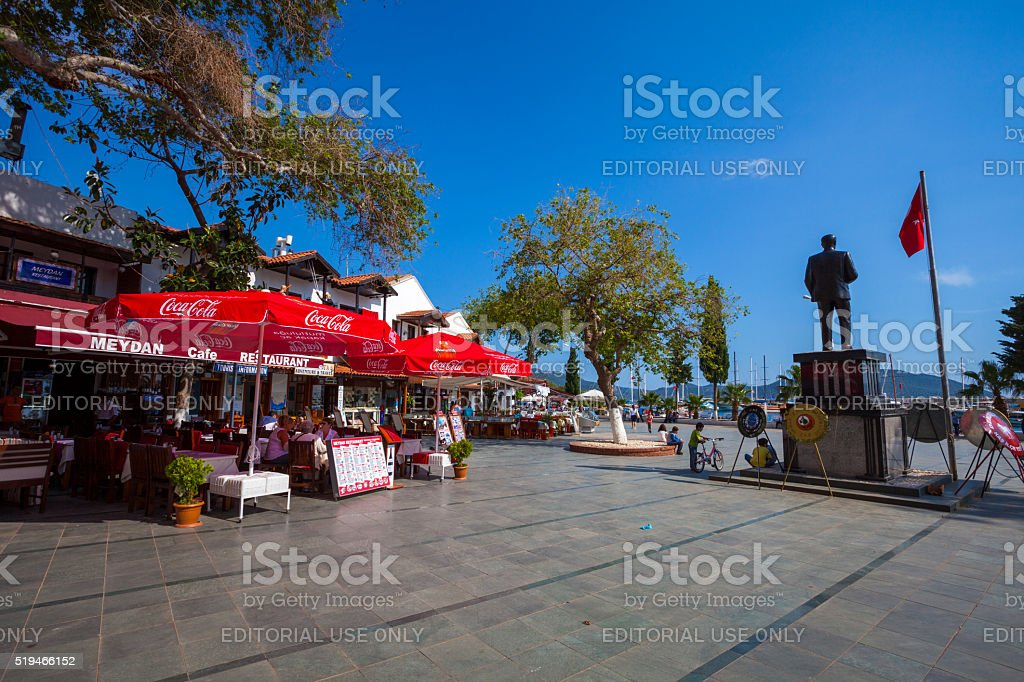 Square in Kas, Turkey stock photo