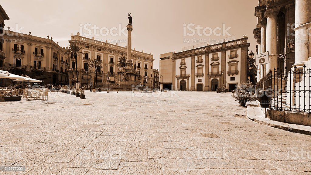 Square in Palermo stock photo