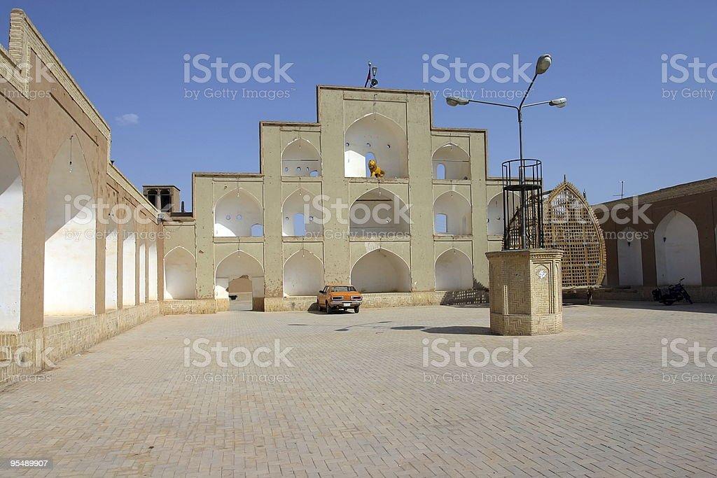 Square in Yasd, Iran stock photo