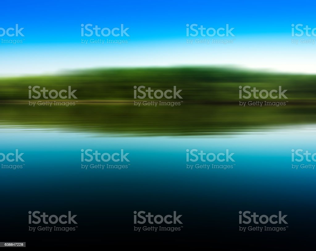 Square lake in motion reflections vivid abstraction stock photo