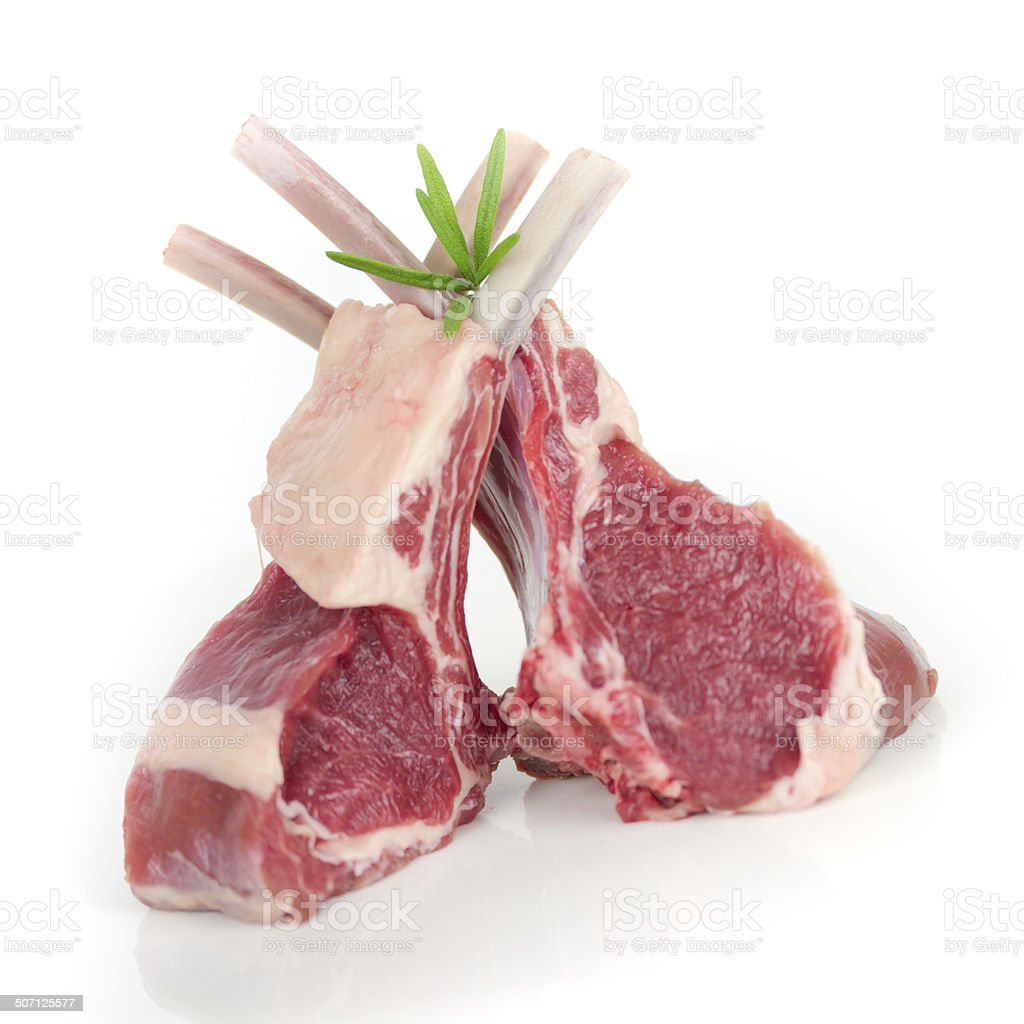 lamb carré stock photo