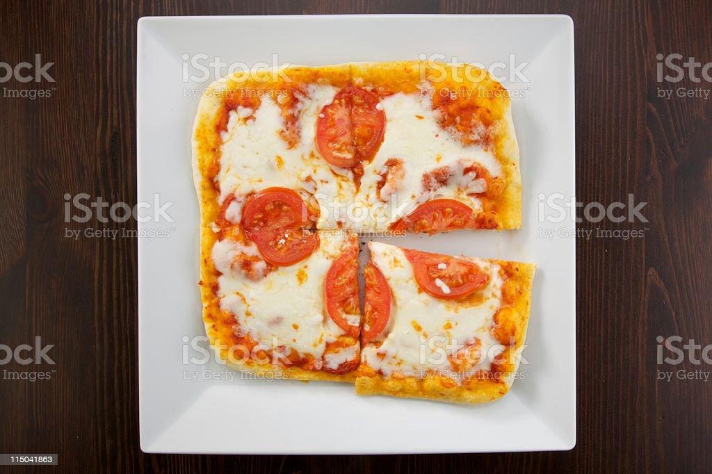 square margarita pizza stock photo