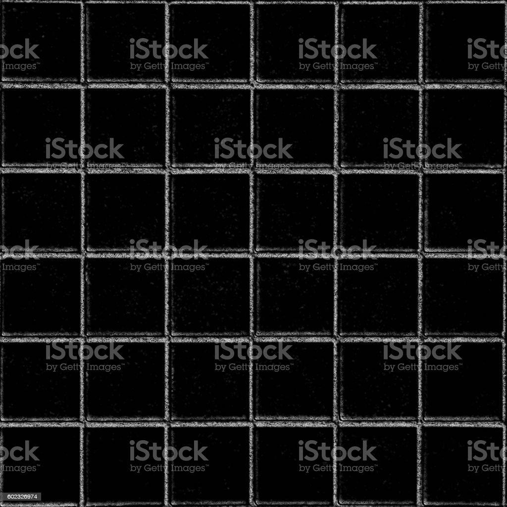 square mosaic on black board white chalk stock photo