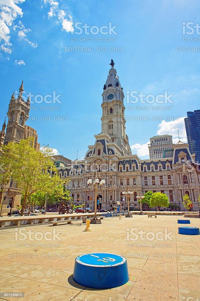Square near Philadelphia City Hall stock photo