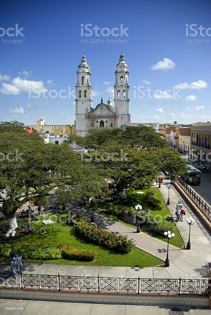 Square of Campeche - Mexico royalty-free stock photo
