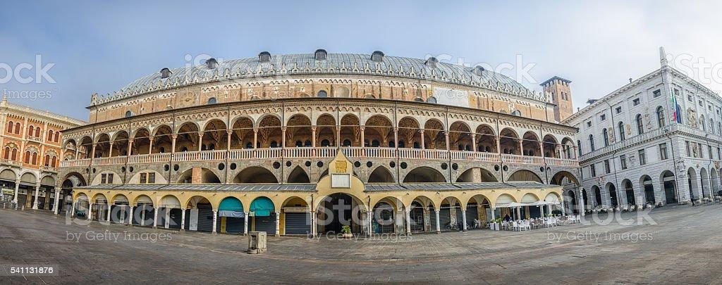 Square of Erbe, view on Palazzo della Ragione , Padova, Italy stock photo