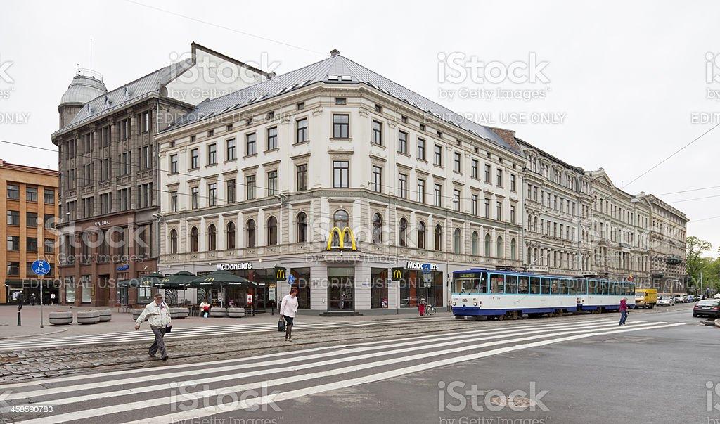 Square of liberty, Riga-Latvia stock photo