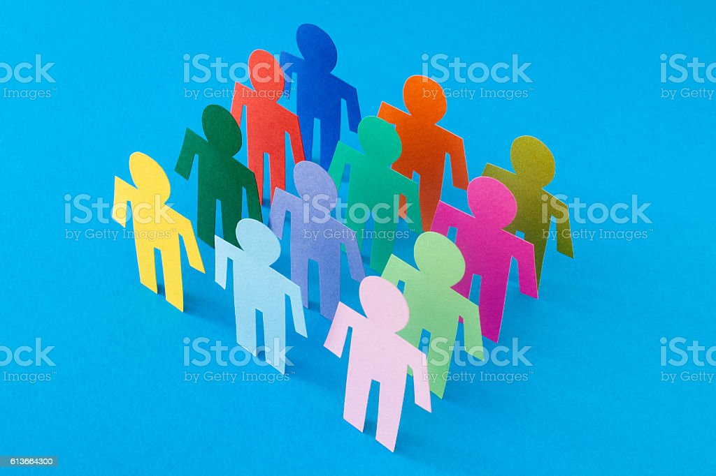 Square of men stock photo