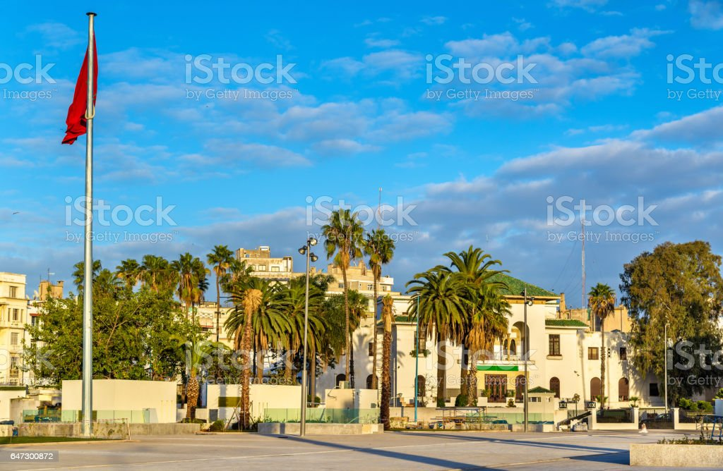 Square of Mohammed V in Casablanca, Morocco stock photo