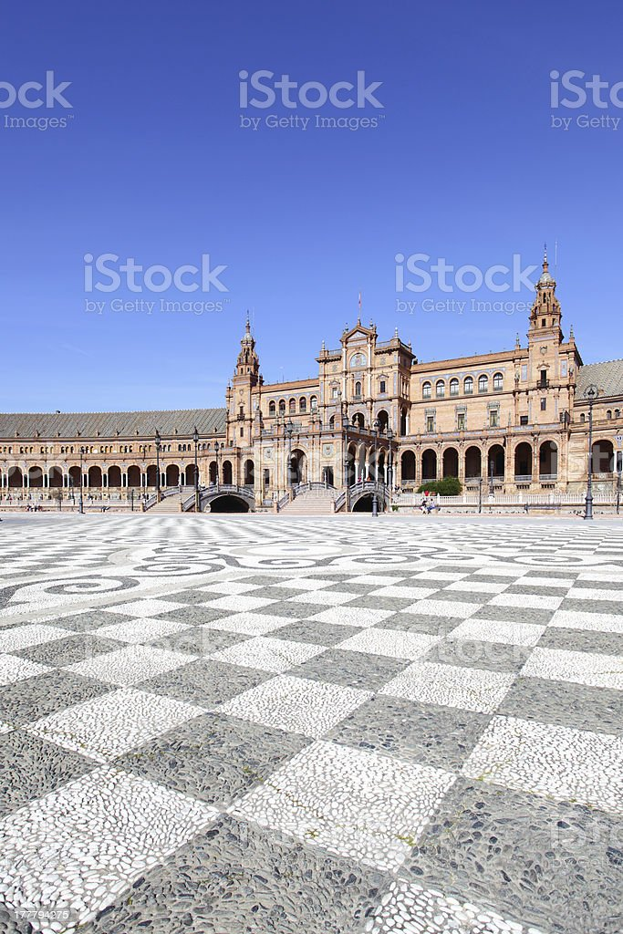 Square of Spain royalty-free stock photo