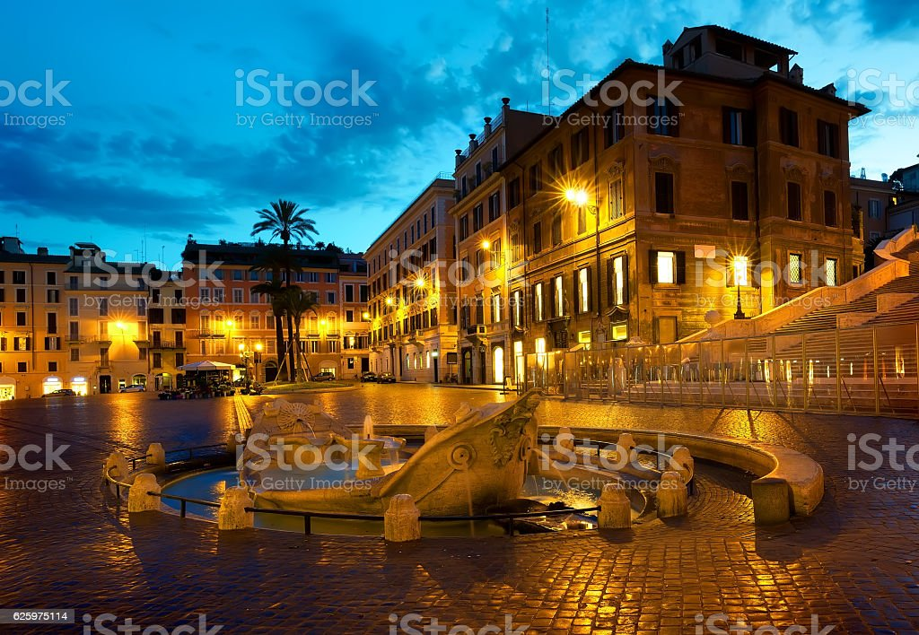 Square of Spain stock photo