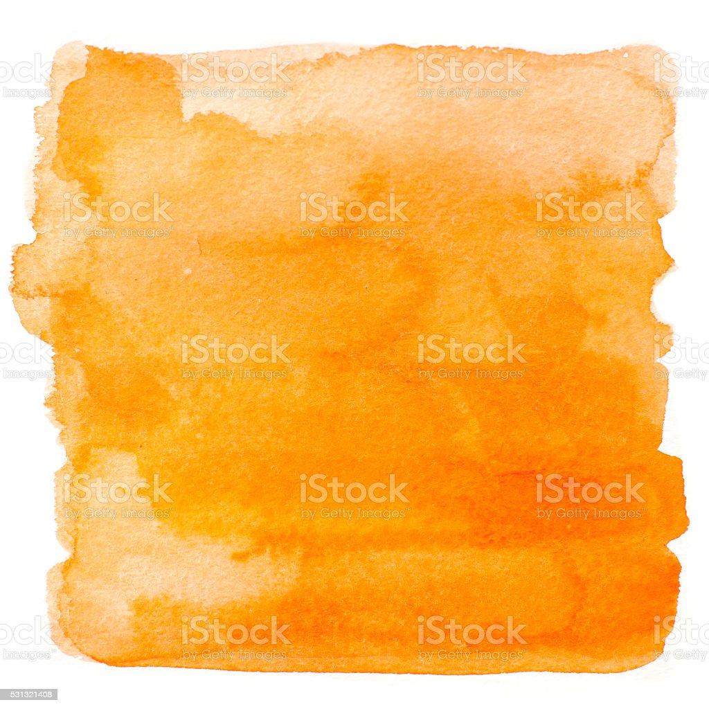 Square orange watercolor banner background stock photo