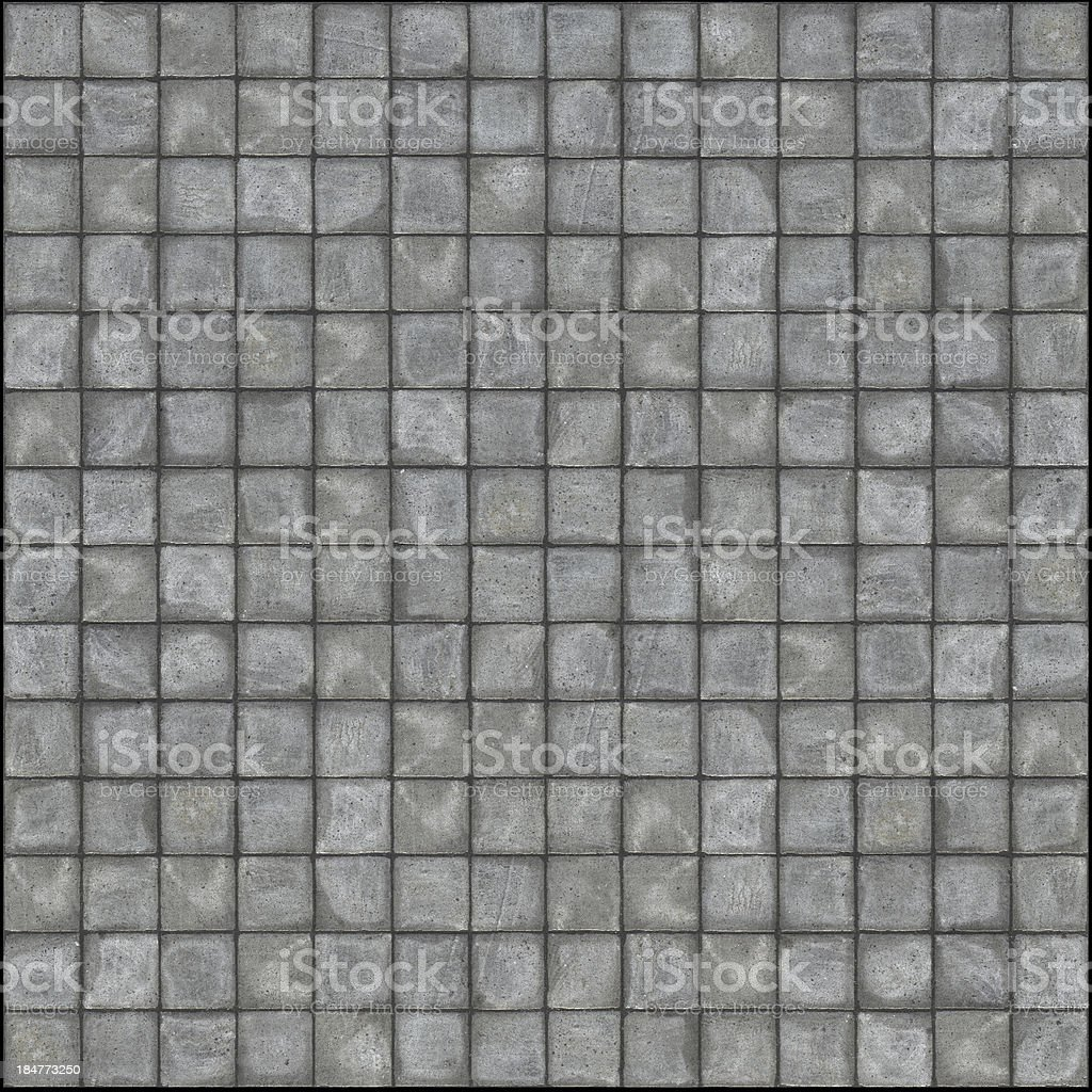 square pavement tiles in gray stone concrete royalty-free stock photo