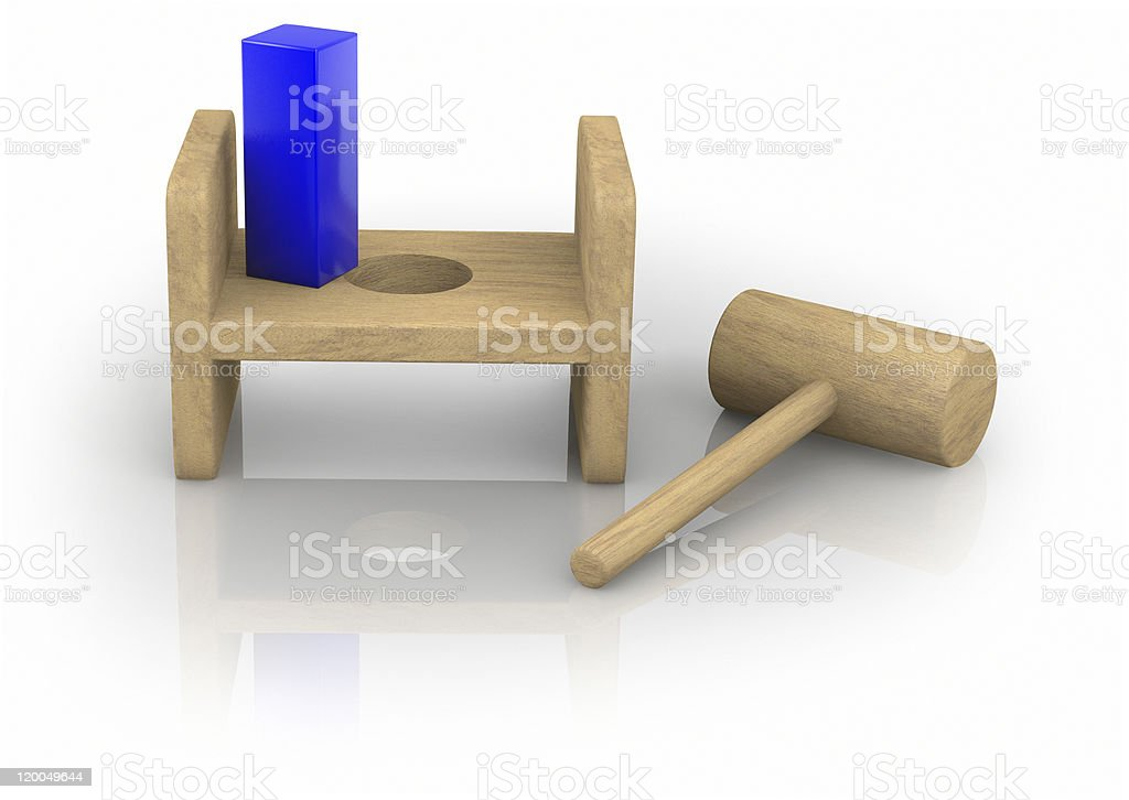 Square Peg in the Round Hole royalty-free stock photo