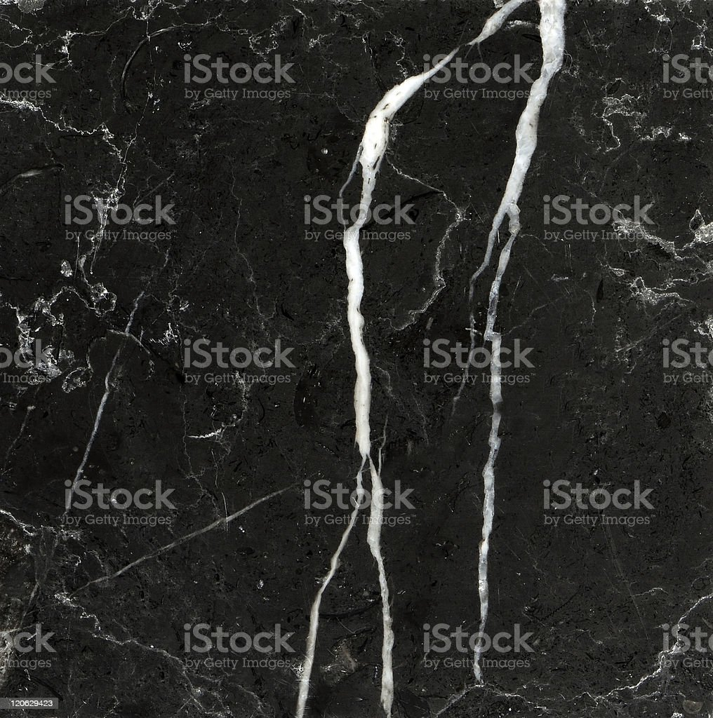 Square photo of black marble with white marks stock photo
