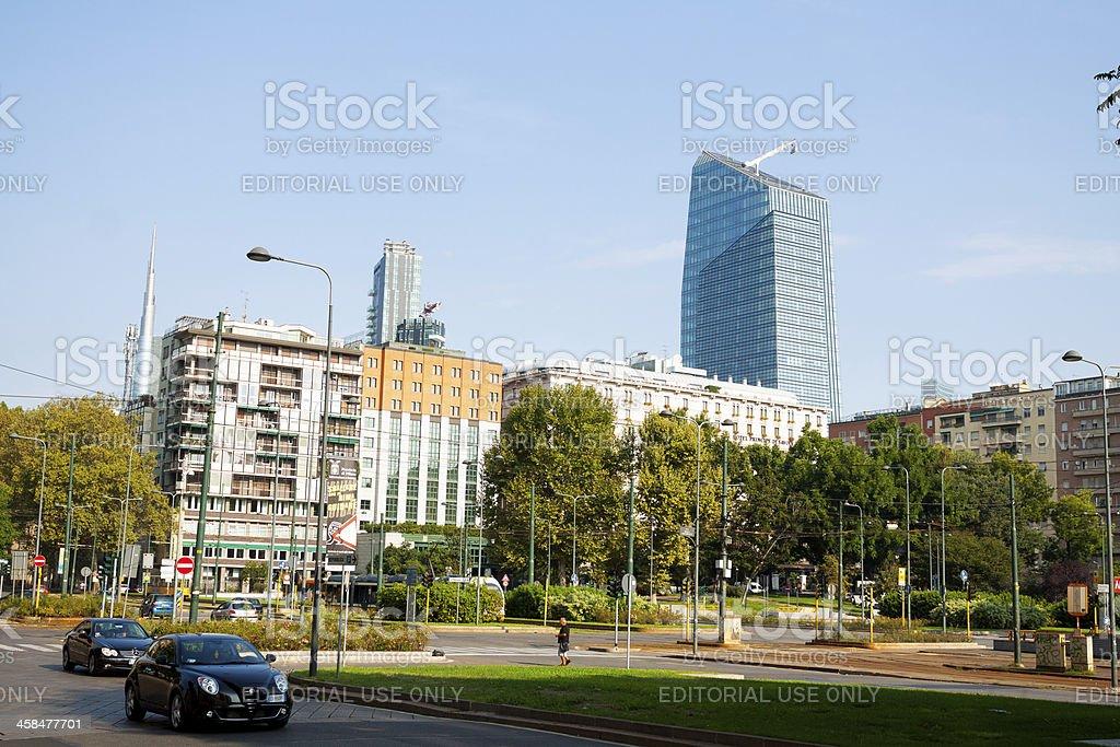 Square Piazza della Republica stock photo
