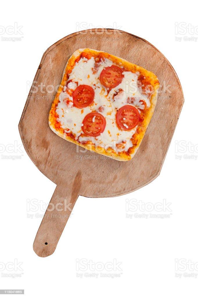 square pizza stock photo