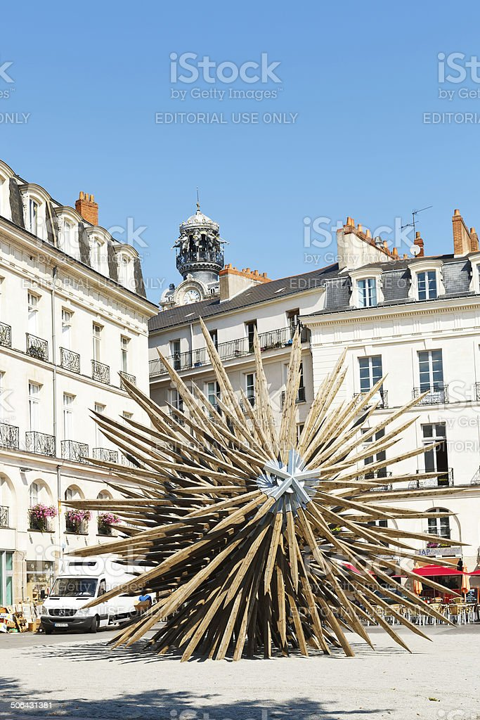 square Place du Bouffay in Nantes, France stock photo