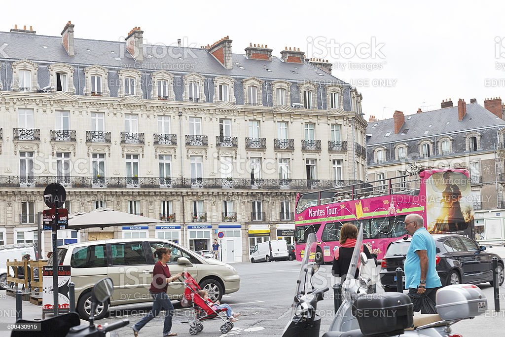 square Place Saint Pierre in Nantes, France stock photo