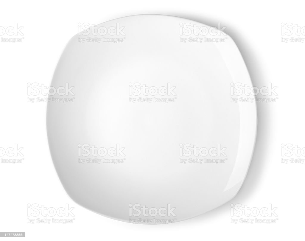 Square plate stock photo