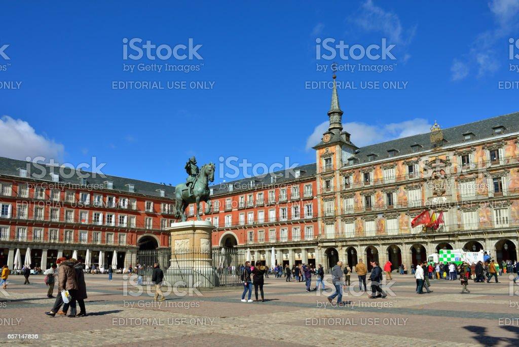 Square Plaza Mayor, Madrid stock photo