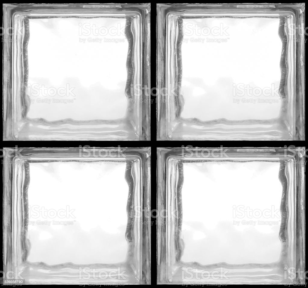 Square shaped of glass bricks stock photo