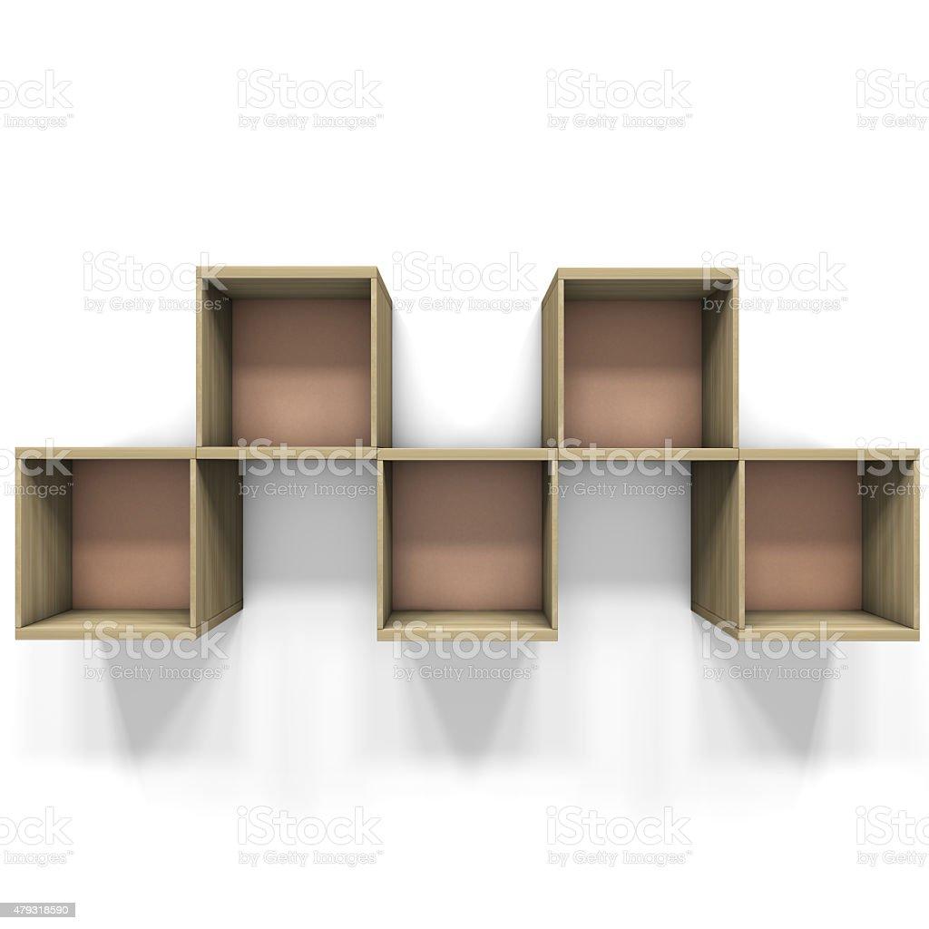 Square shelves stock photo