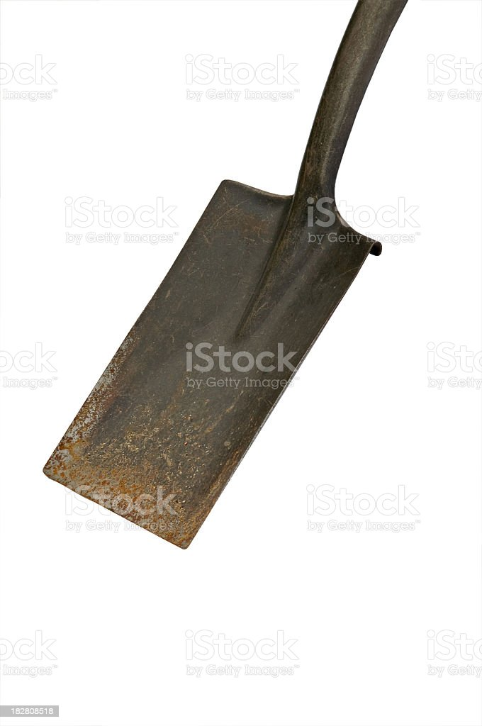 Square Shovel with Clipping path stock photo