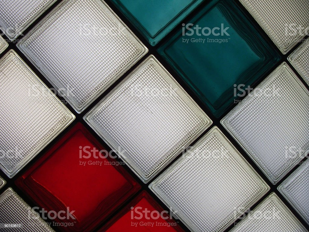 Square stained glass stock photo