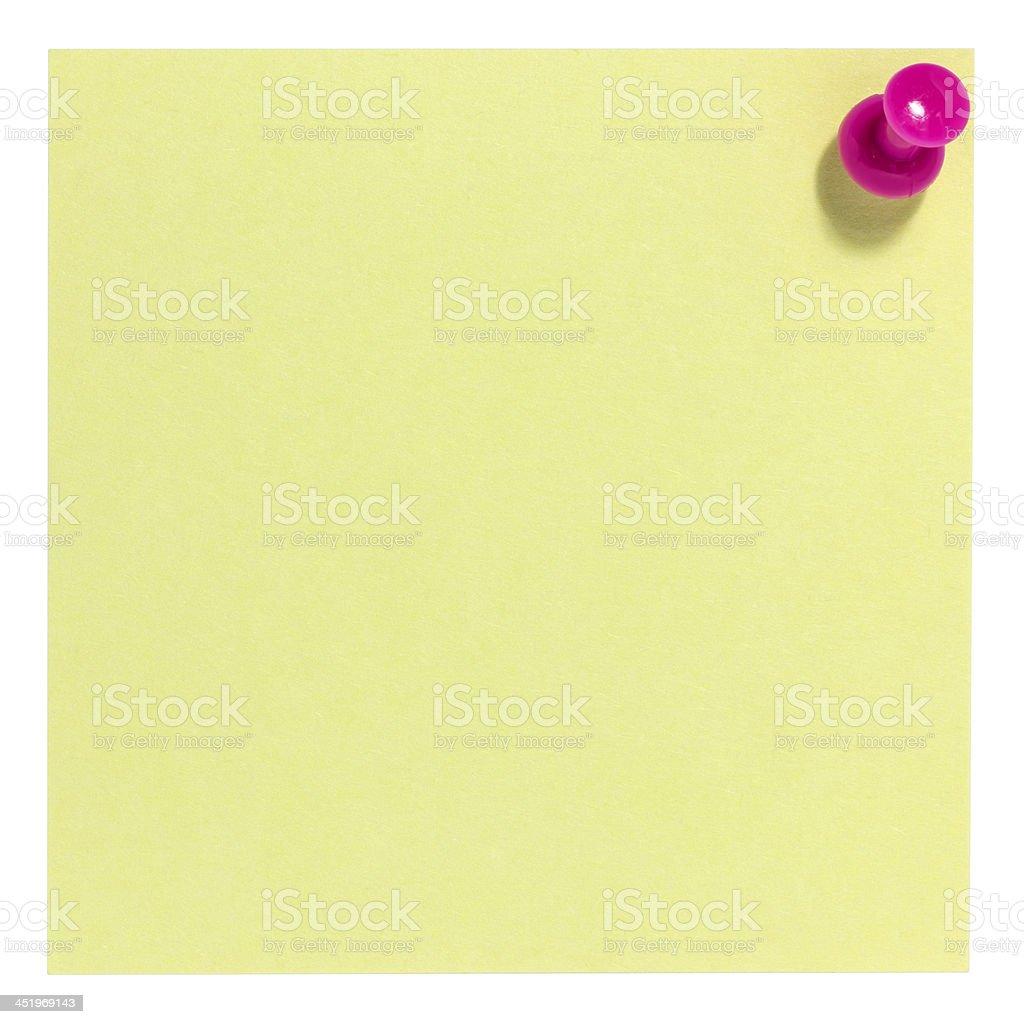 Piazza Rosa foglietto adesivo con pin foto stock royalty-free