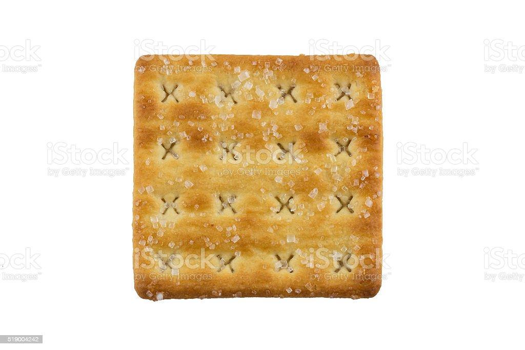 Square sugar cracker stock photo