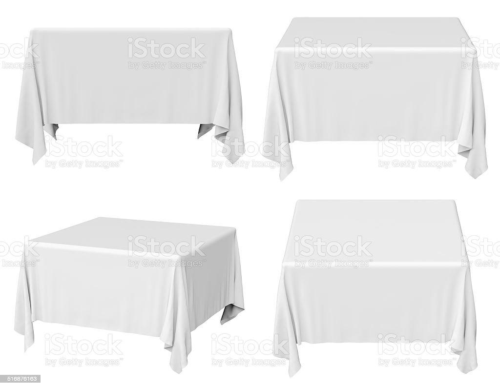 Square tablecloth set stock photo