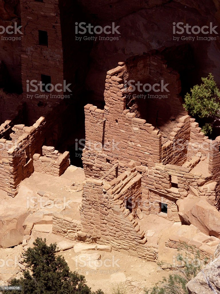 Square Tower House royalty-free stock photo