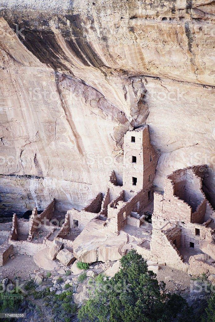 Square Tower House Ruins - Mesa Verde National Park, Colorado royalty-free stock photo