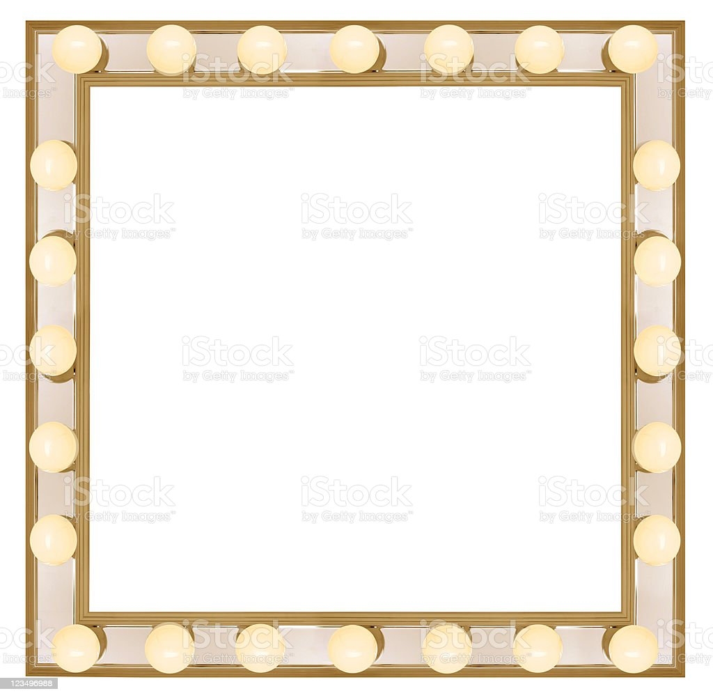Square Vanity mirror royalty-free stock photo