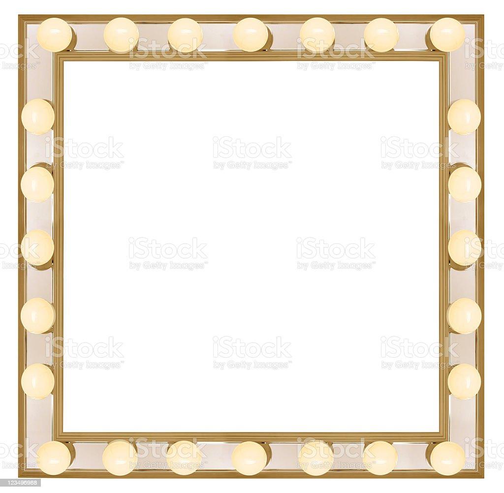 Square Vanity mirror stock photo