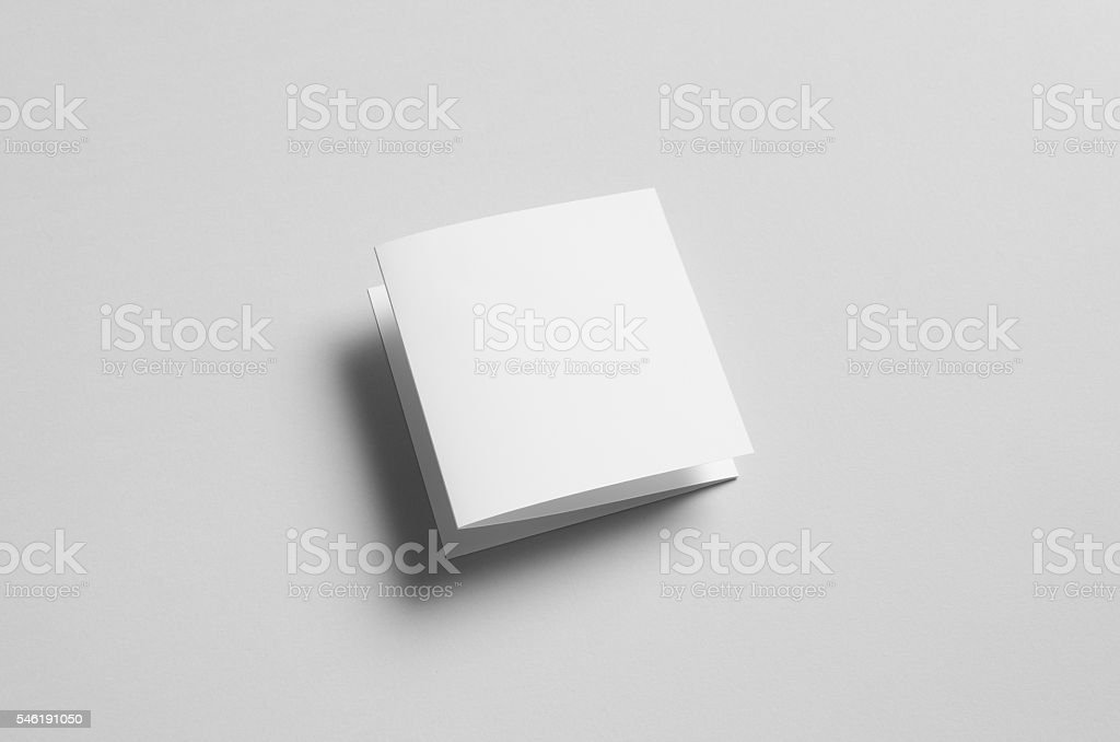 Square Z-Fold / Fan Fold Brochure Mock-Up stock photo